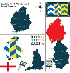 Cumbria north west england vector