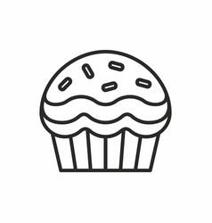 Cupcakes icon vector