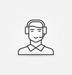 customer support and service icon vector image
