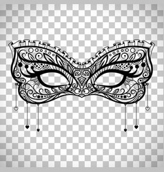 elegant carnival mask on transparent background vector image vector image