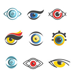Eyes ophthalmology technology icons vector