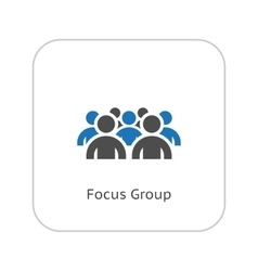 Focus Groupe Icon Business Concept Flat Design vector image vector image