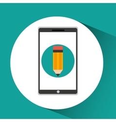 Girl app education online write desing vector