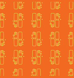 gloves uniform seamless pattern in linear style vector image