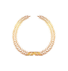 golden award frame winner sign laurel wreath vector image