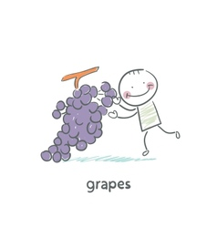 Grapes and people vector image vector image