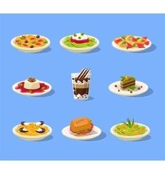 Italian Dish Set vector image