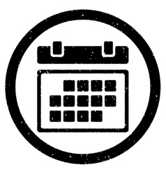 Month calendar rounded grainy icon vector