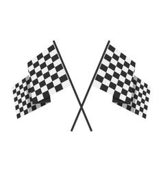 Racing flag avto symbol vector