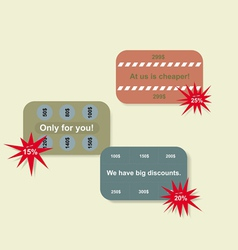 set of price tags vector image vector image