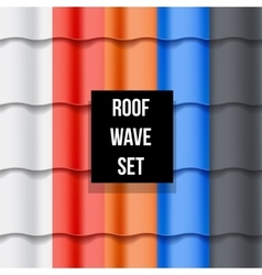 Set of Tiled roof seamless patterns vector image