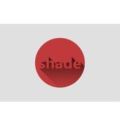 Shadow logo design Shade inscription design vector image