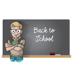 Studen And Blackboard vector image