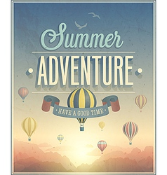 summer adventure vector image vector image