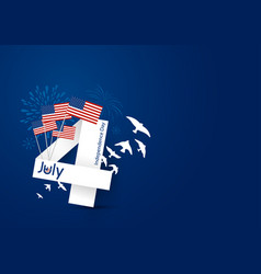 usa 4 july happy independence day design vector image