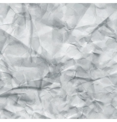 White crumpled paper texture vector