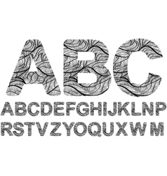 Ornamented letters vector