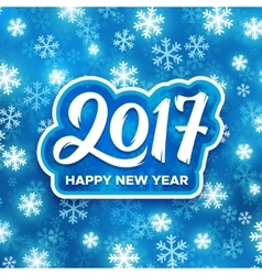 Happy new year 2017 festive vector