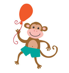 Cute cartoon monkey vector
