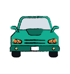 drawing car sedan vehicle transport icon vector image