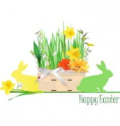 Easter basket vector image