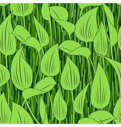 Seamless grass bog leaf background vector