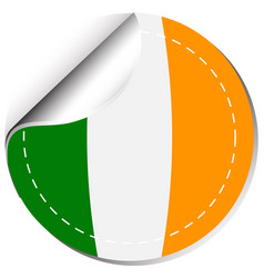 Sticker design for flag of ireland vector