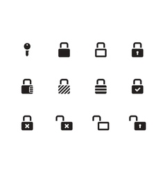 Locks icons on white background vector