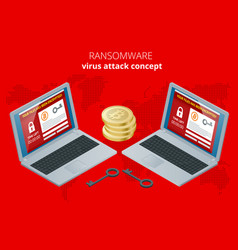 Ransomware malicious software that blocks access vector