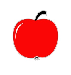 Big red apple card vector