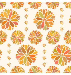 seamless color decorative flower vector image