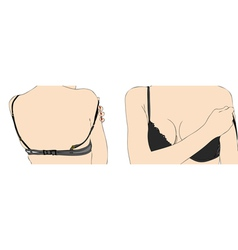 Woman with bra vector