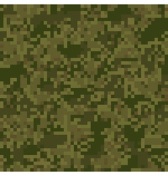 Green digit camouflage seamless pattern vector