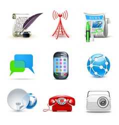 communicatio icons | bella 2 vector image