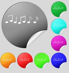 Music note sign icon musical symbol set of eight vector