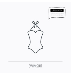 Swimsuit icon women swimwear sign vector