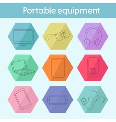 Gadget modern flat icon vector
