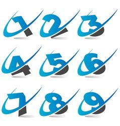 Swoosh Logo Numbers vector image