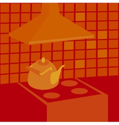 Boiling kettle vector