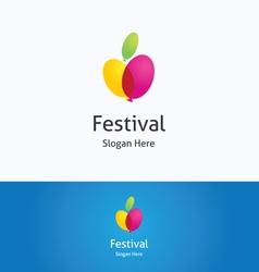 Festival logo vector image