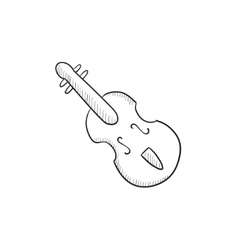 Cello sketch icon vector image