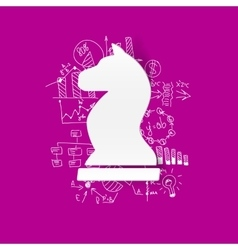 Drawing business formulas chess vector