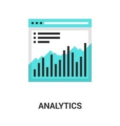 analytics icon concept vector image vector image