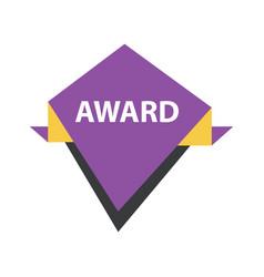Award label design purple yellow black vector