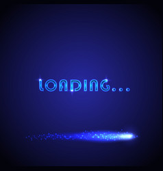 Background with loading bar vector
