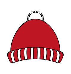 Beanie hat design vector