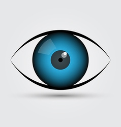 blue eye vector image vector image