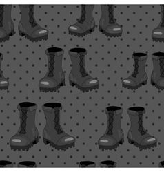 Boot seamless pattern vector