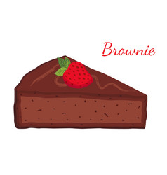 Brownie chocolate pie cupcake pastry vector