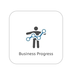 Business Progress Icon Flat Design vector image